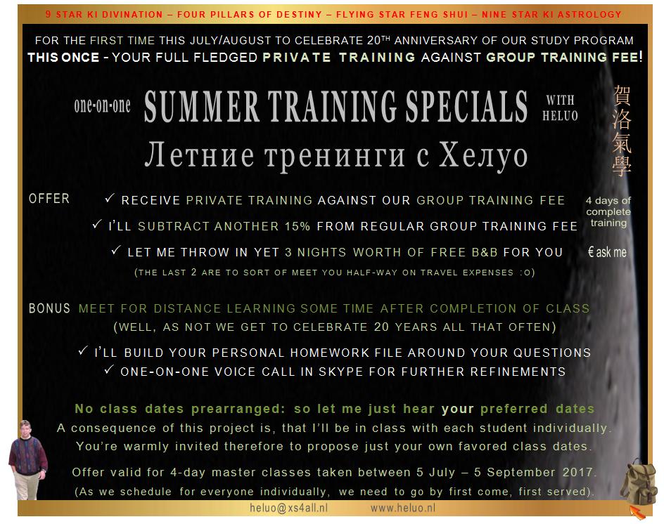 Heluo Hill Special Training 9 Star Ki - Four Pillars of Destiny - Feng Shui